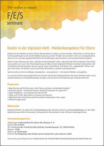 F/E/S Seminare Medienkompetenz Einladung zum 05.10.2016