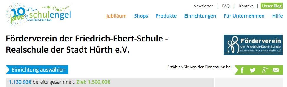 Spenden mit schulengel.de für unsere Friedrich-Ebert-Schule Hürth