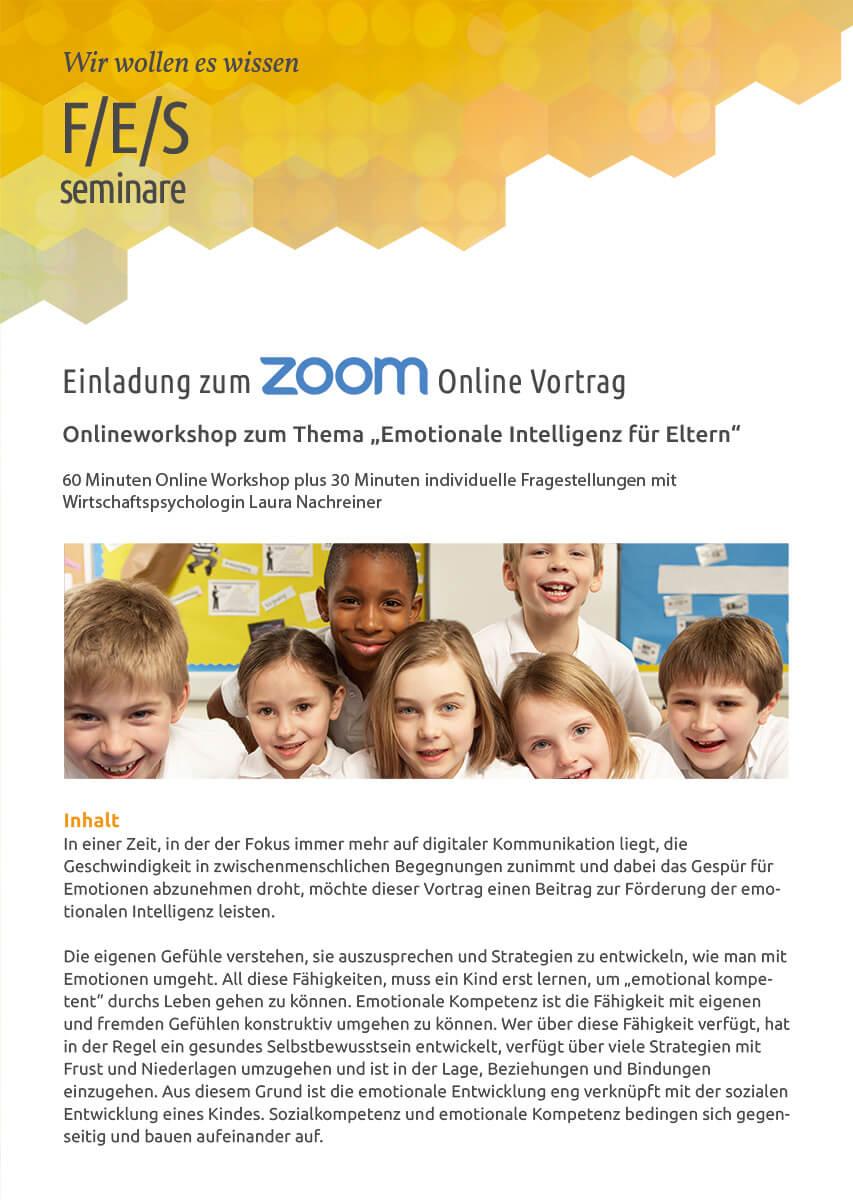 """Online-Workshop """"Emotionale Intelligenz für Eltern"""" an der Friedrich-Ebert-Schule Hürth"""